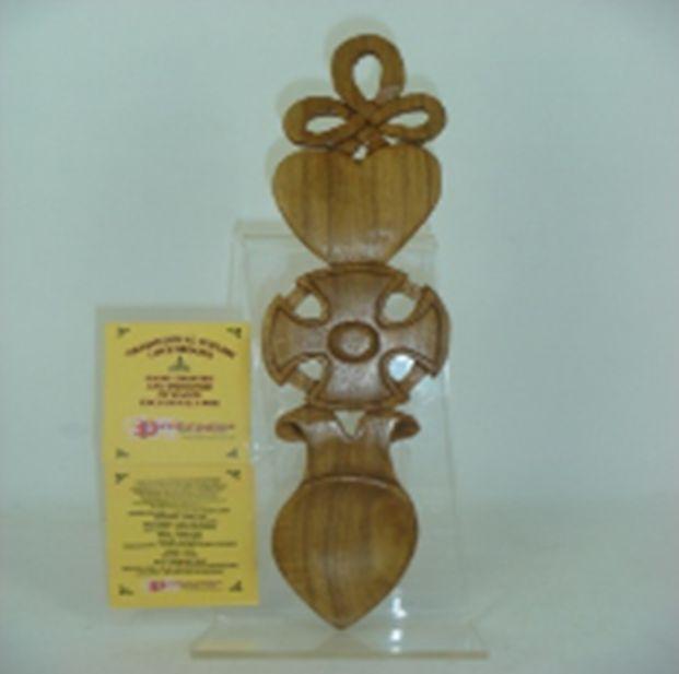 Pendragon Lovespoon: Wood Cross, 9 in