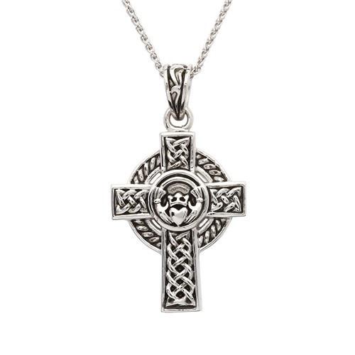 Pendant: SS Celtic Cross Claddagh