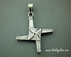 Pendent: Stainless St Bridget's Cross
