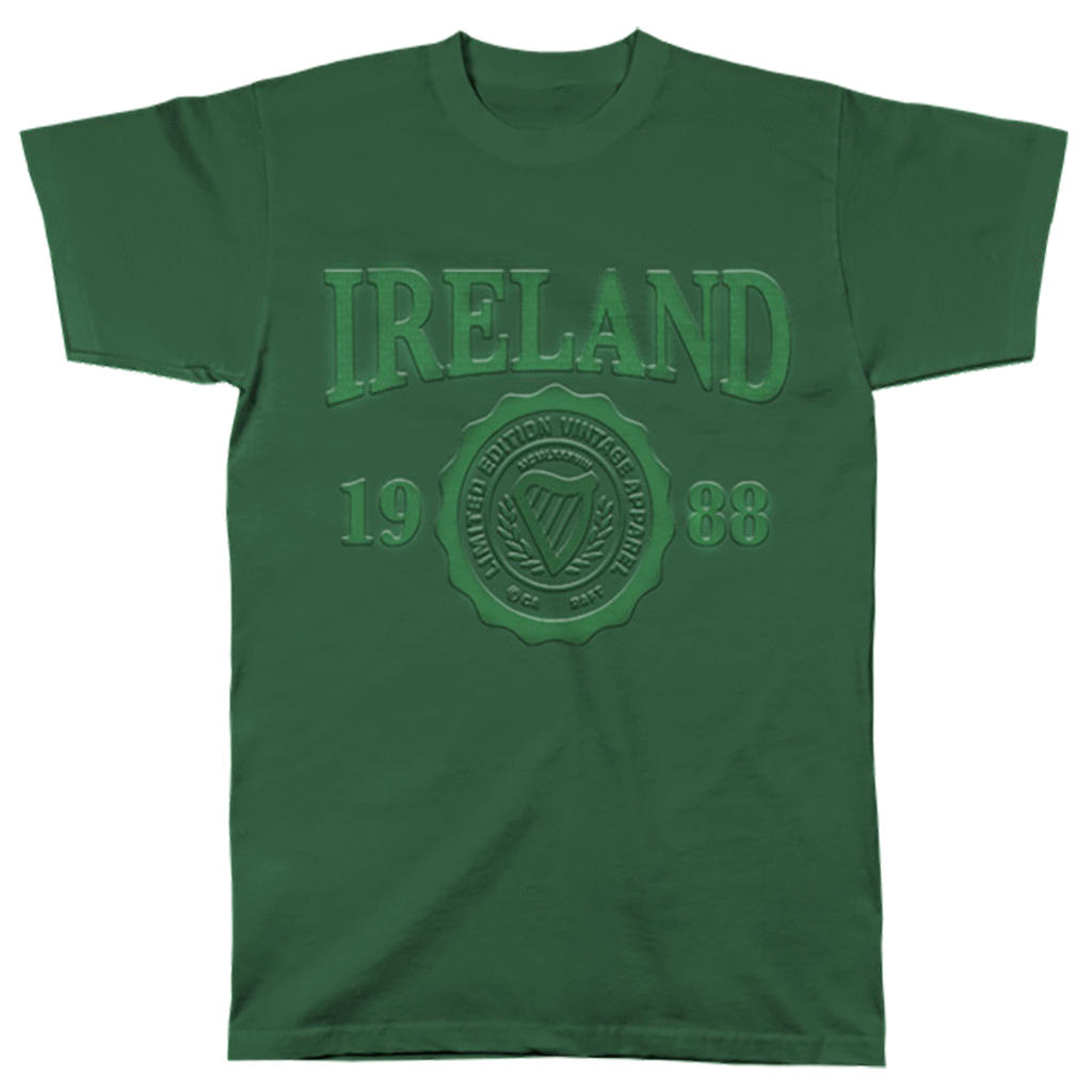 T Shirt: Ireland Embossed