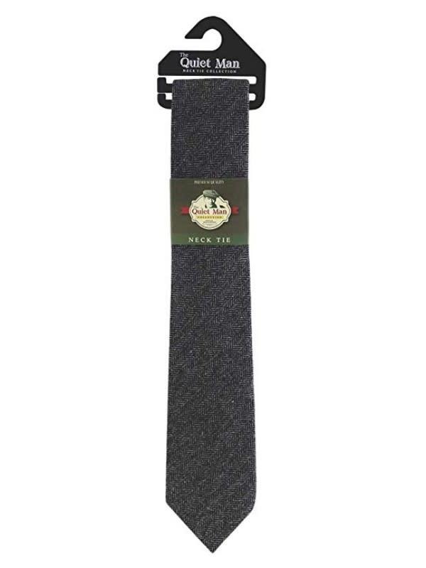Tie: Quiet Man Grey Herringbone
