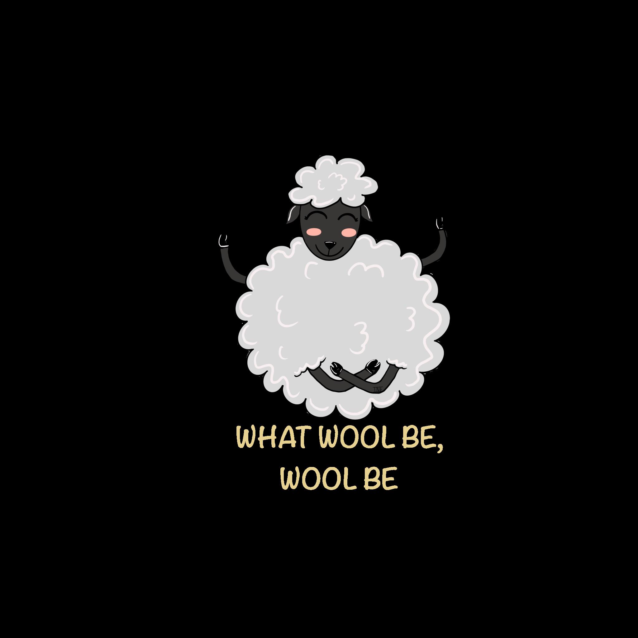 Yoga Sheep Sticker: Transparent
