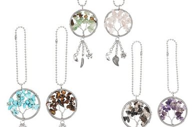 Car Charm: Tree of Life w/Stones