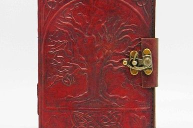 Journal: Leather Lrg Tree Lock 7X10