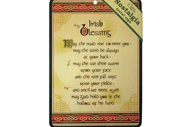 Sign: Irish Blessing Nostalgia