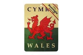 Sign: Welsh Dragon Flag Nostalgia