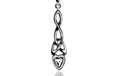 Pendant: Silver Welsh Love Spoon/Knot