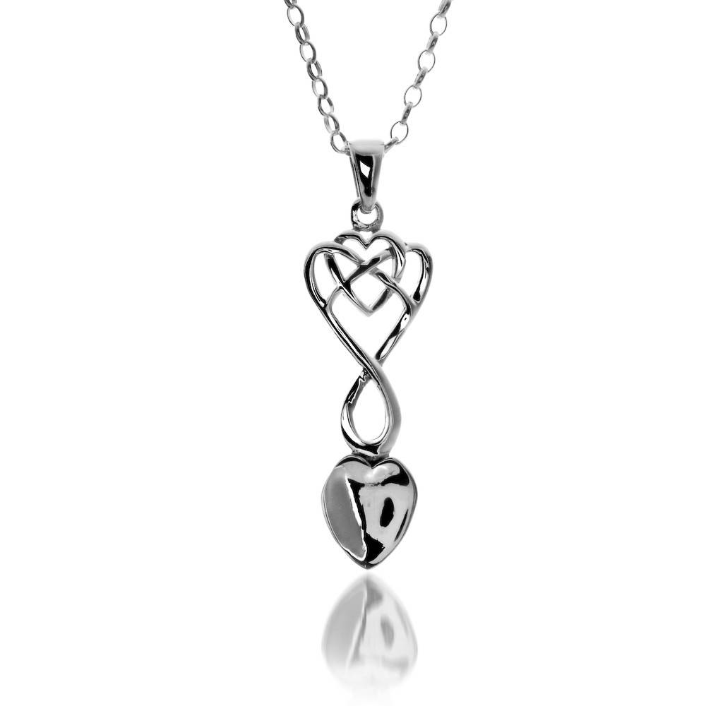 Pendant: Silver Welsh Love Spoon/Heart