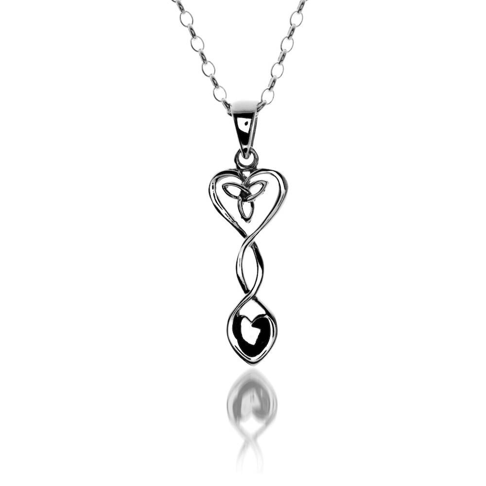 Pendant: Silver Celtic Heart Welsh Spoon