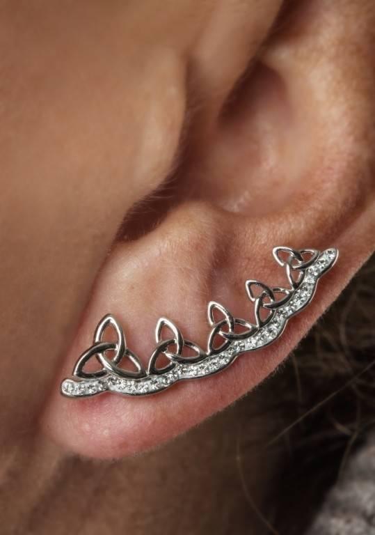 Shanore Earrings: Trinity Climber Swarovski