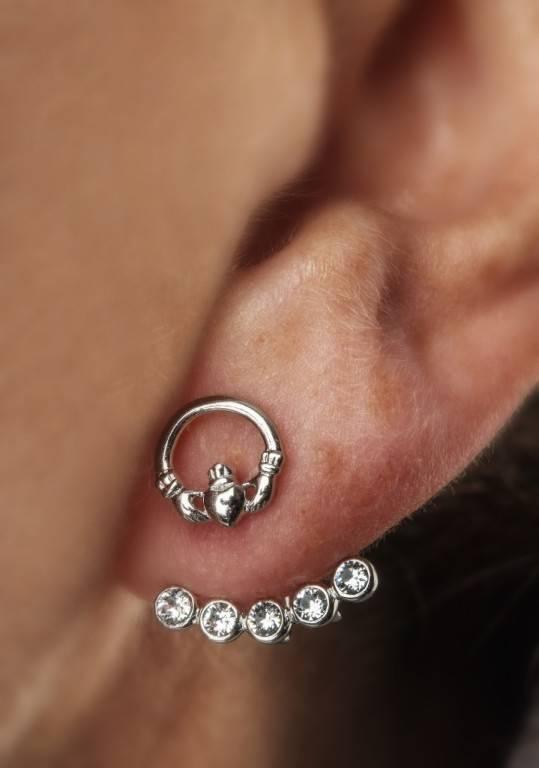 Shanore Earring: Swarovski Claddagh