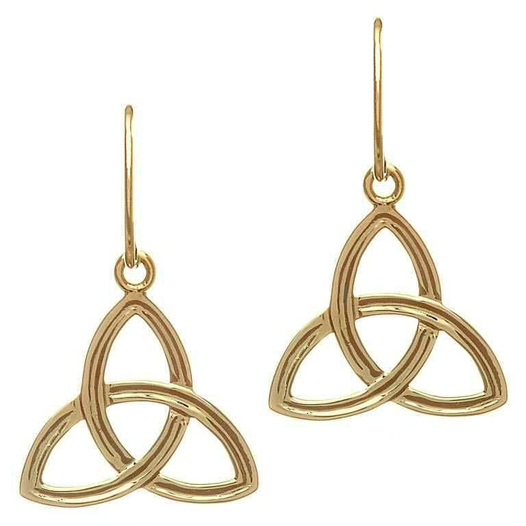 Shanore Earring: 10K Gold Trinity Drop