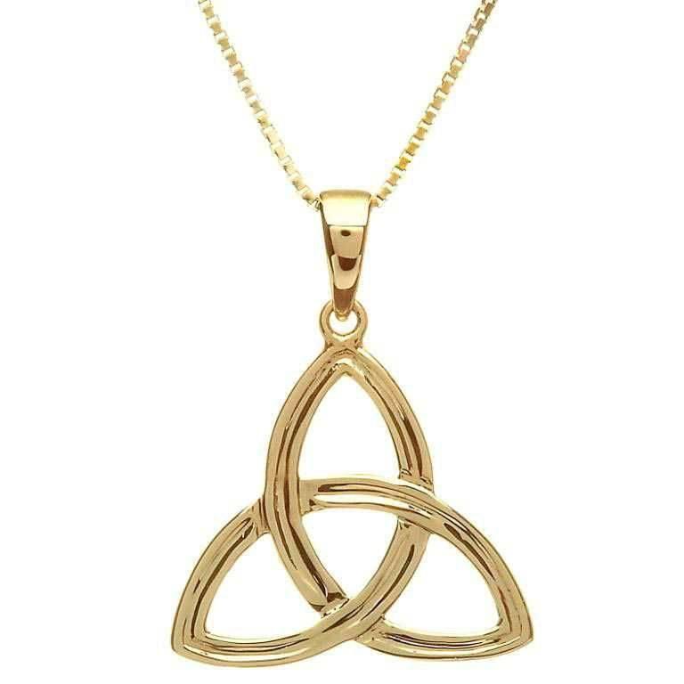 Shanore Pendant: 10K Gold Trinity