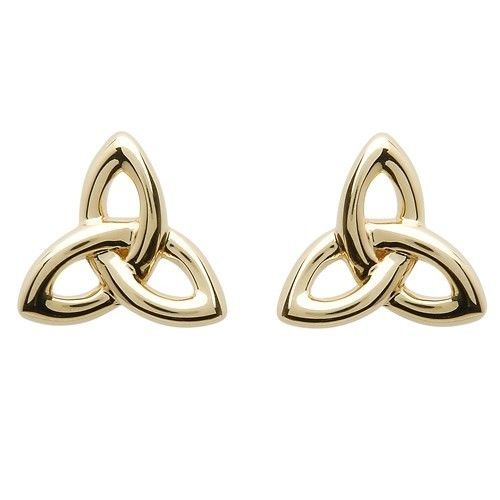 Shanore Earring: 10K Gold Trinity