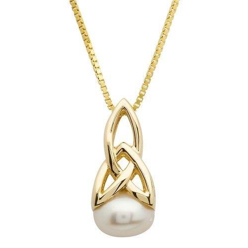 Shanore Pendant: 10k Gold Pearl Trinity