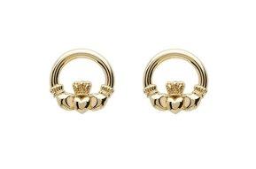 Earring: 10K Claddagh Stud