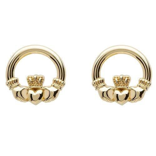 Shanore Earring: 10K Claddagh Stud