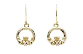 Earring: 10K Gold Claddagh
