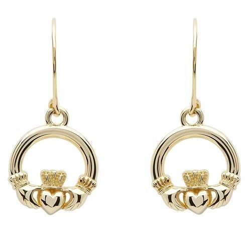 Shanore Earring: 10K Gold Claddagh