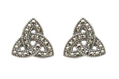 Earrings: SS Marcasite Trinity