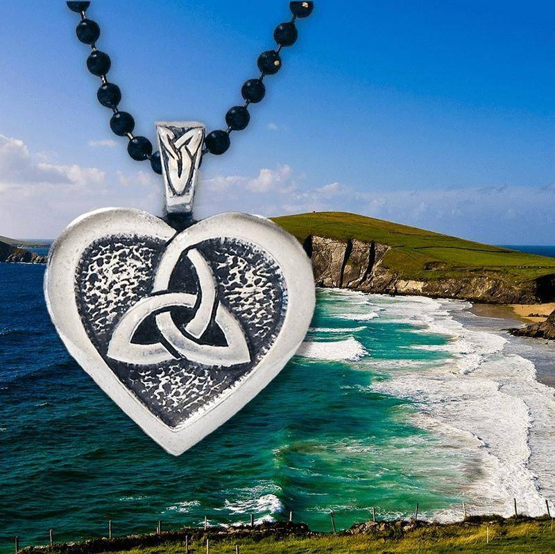Pendant: Heart of the Celts Pewter