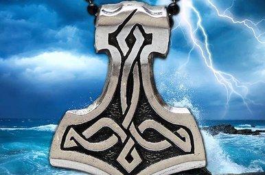 Pendant: Thors Hammer Pewter
