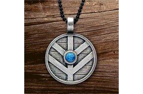 Pendant: Viking Shield w/Denim Lapis
