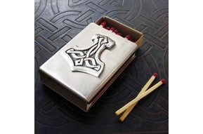 Matchbox Cover: Thors Hammer Pewter
