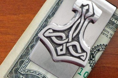 Moneyclip: Thors Hammer Pewter