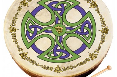 "Bodhran: 12"" Brosna Cross Design"