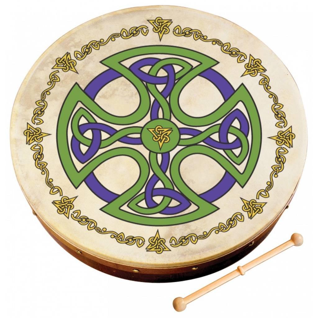 "Walton's Music Bodhran: 12"" Brosna Cross Design"
