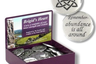 Token: Brigid's Heart Pewter