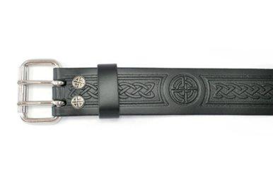 "Belt: 2"" Roller, Embossed Knot"