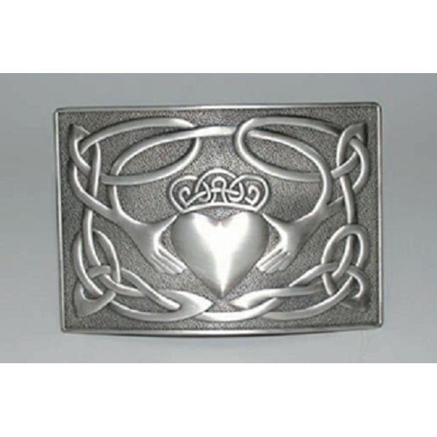 Glen Esk Buckle: Claddagh Waist Plate