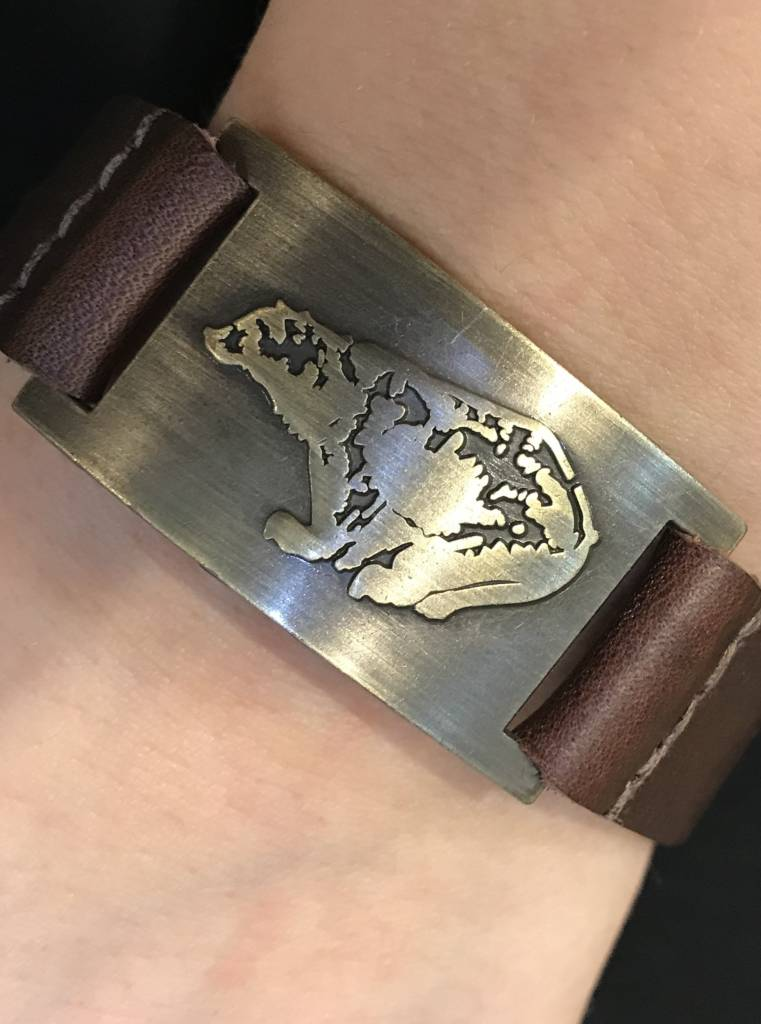 Leather Bracelet: Celtic Bear, Leather & Zinc Alloy