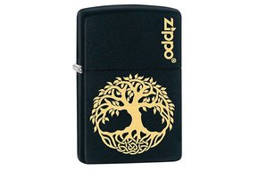 Lighter: Zippo Tree of Life, Gld