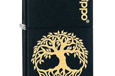 Lighter: Zippo Tree of Life, Blk & Gld