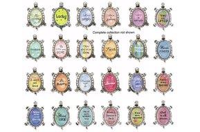 Charm: Lucky Turtle Figurines (sayings)
