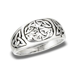 Ring: SS Celtic Knot w/Triquetra