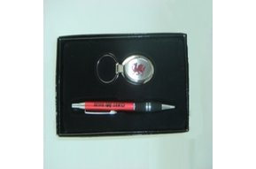 Set: Cymru Pen and Keychain