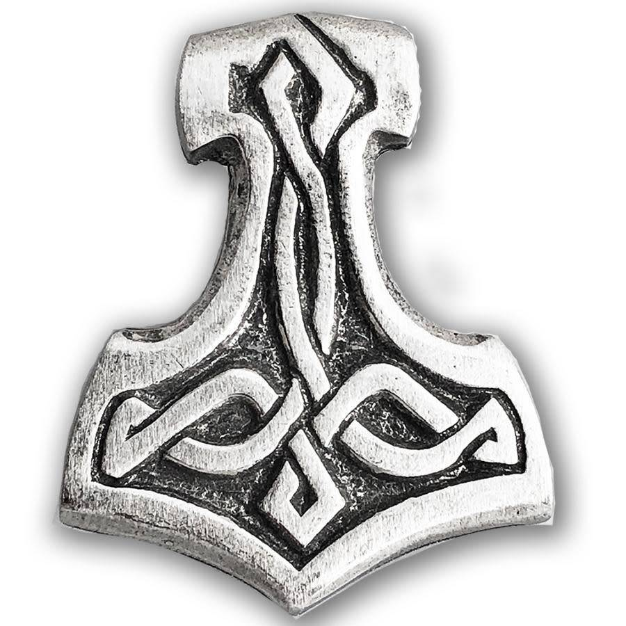 Lapel Pin: Pewter Thors Hammer