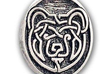 Lapel Pin: Pewter Bear