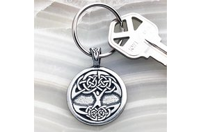 Keychain: Tree of Life Pewter