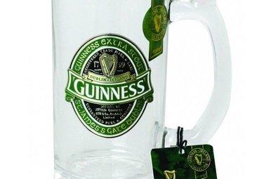 Glass: Guinness Logo Tankard, Green
