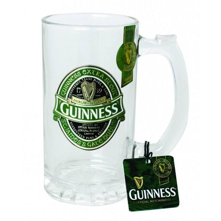 Guinness Glass: Guinness Logo Tankard, Green