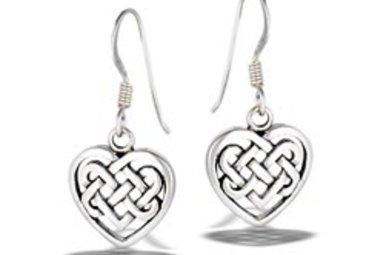 Earrings: SS Celtic Weave Heart