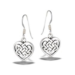 Earrings: SS Celtic Weave Heart