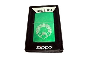 Lighter: Zippo Green Claddagh