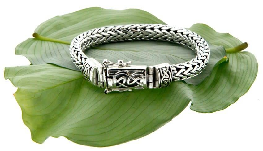Keith Jack Bracelet: Sterling Dragon Weave Eternity