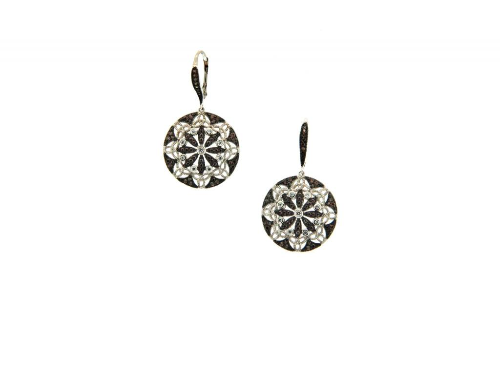 Earring: Night & Day Round CZ